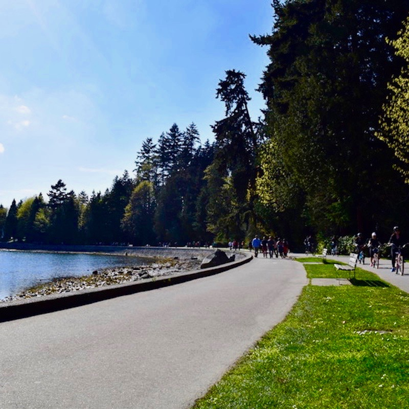 experience vancouver group cycling seawall spring 2017